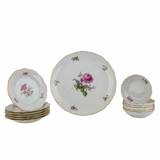 MEISSEN coffee service for 6 persons 'Neumarseille flowers', 20. Century - photo 5