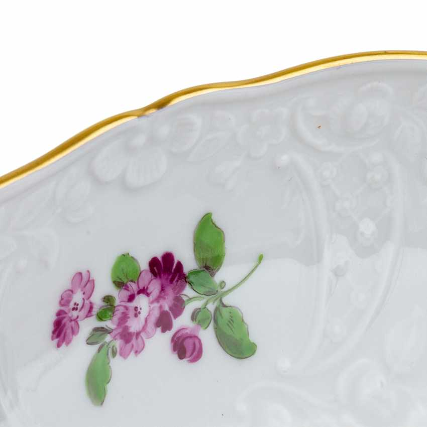 MEISSEN coffee service for 6 persons 'Neumarseille flowers', 20. Century - photo 6