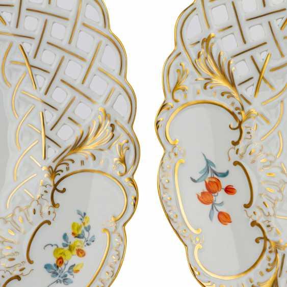 MEISSEN Pair of ornamental plates, 20. Century - photo 2