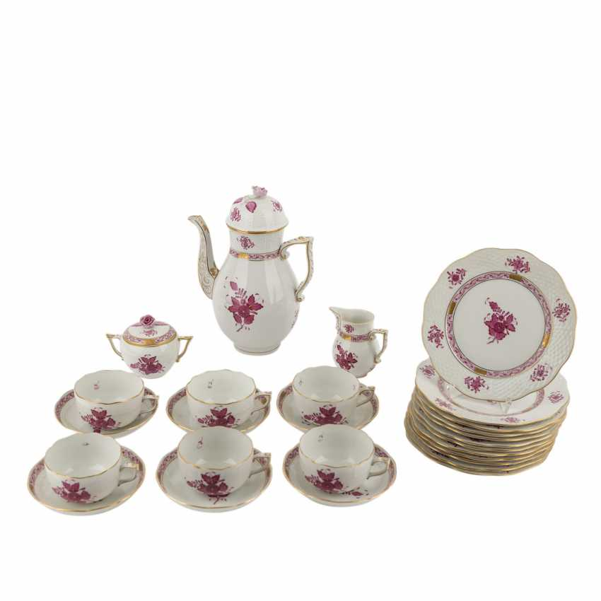 HEREND coffee service for 6 persons, 20. Century - photo 1