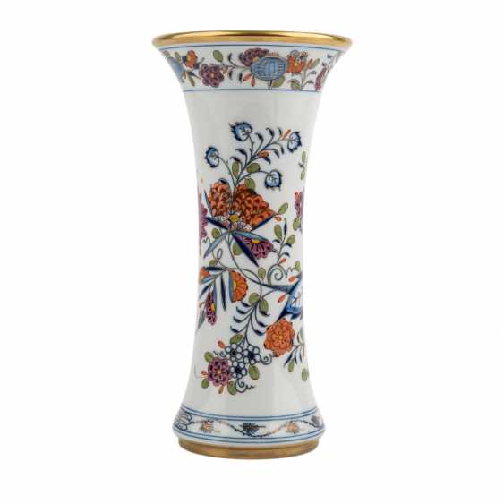 MEISSEN rod vase 'onion pattern colorful', 20. Century - photo 1