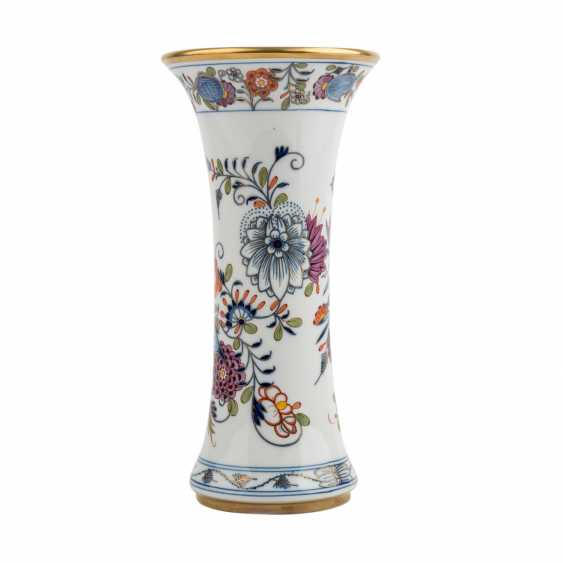 MEISSEN rod vase 'onion pattern colorful', 20. Century - photo 3