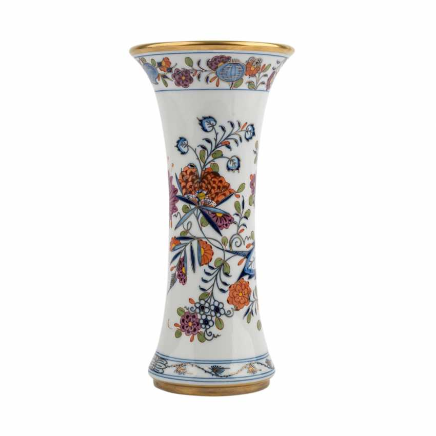 MEISSEN rod vase 'onion pattern colorful', 20. Century - photo 4
