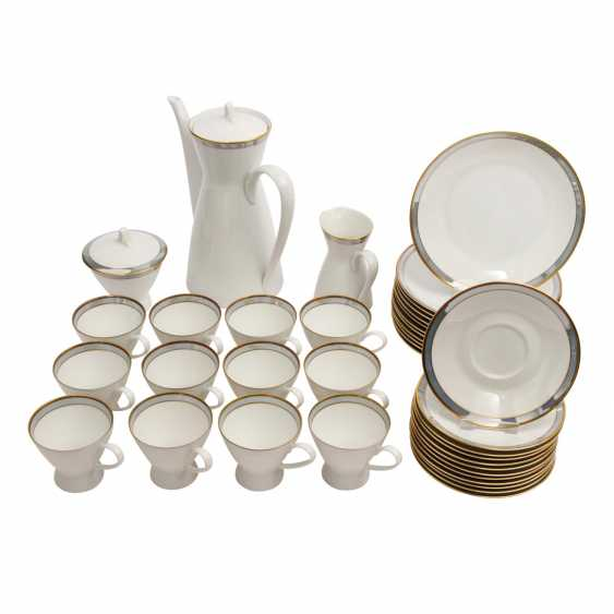 ROSENTHAL coffee service for 12 persons 'Form 2000 Gala blue', 20. Century - photo 1