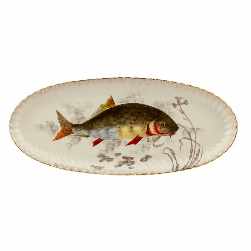 FRANZ ANTON MEHLEM fish service for 18 people, early 20. Century - photo 2