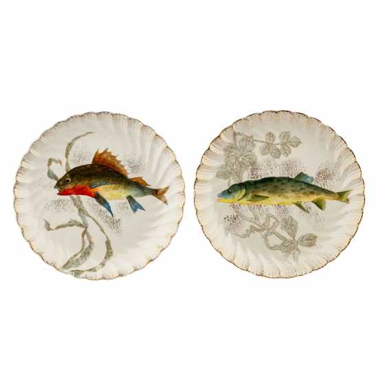 FRANZ ANTON MEHLEM fish service for 18 people, early 20. Century - photo 3