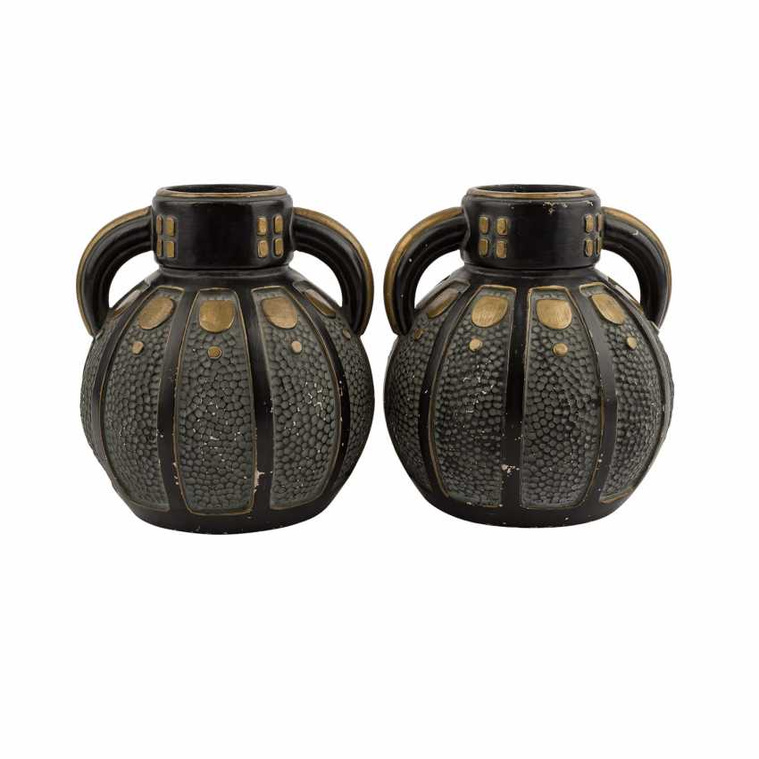 Art NOUVEAU Pair of Henkel vases. - photo 1