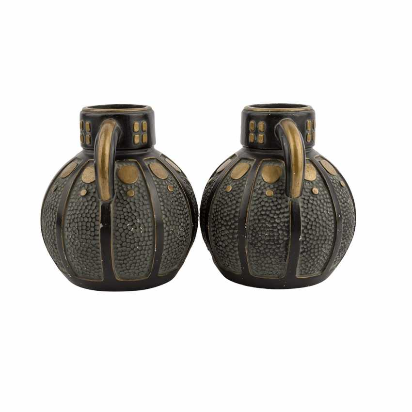 Art NOUVEAU Pair of Henkel vases. - photo 4