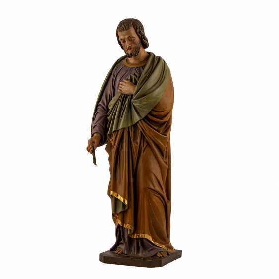 CARVED FIGURE OF SAINT JOSEPH - photo 1