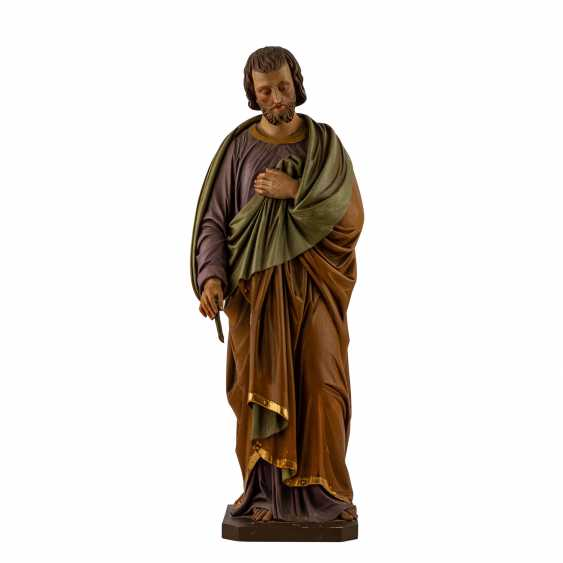 CARVED FIGURE OF SAINT JOSEPH - photo 2