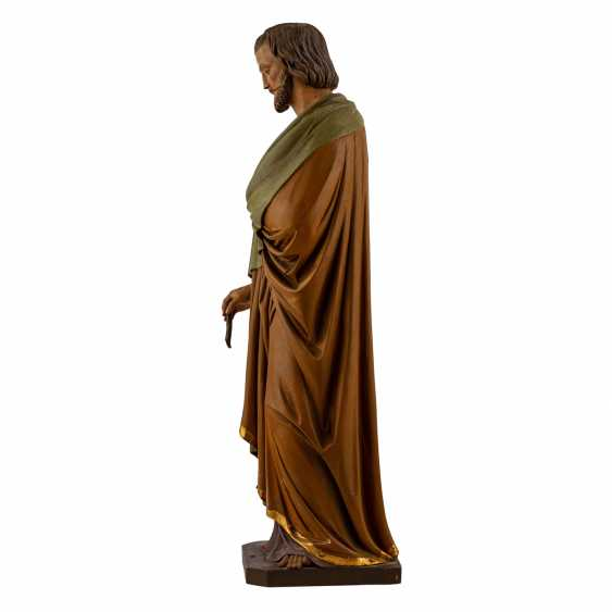 CARVED FIGURE OF SAINT JOSEPH - photo 3