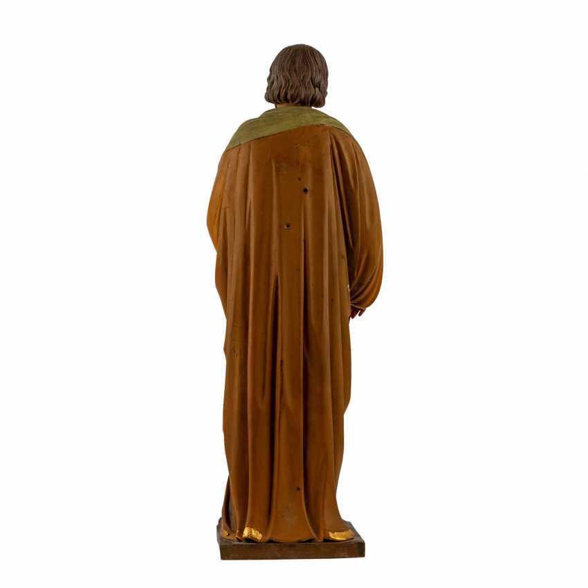 CARVED FIGURE OF SAINT JOSEPH - photo 4