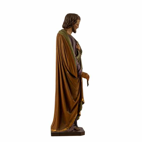 CARVED FIGURE OF SAINT JOSEPH - photo 5