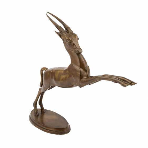"MONOGRAMMIST ""R.P."" ""Springende Antilope"", 20. Jahrhundert - Foto 1"