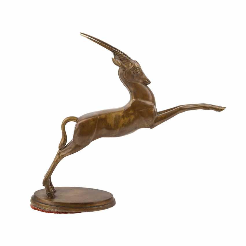 "MONOGRAMMIST ""R.P."" ""Springende Antilope"", 20. Jahrhundert - Foto 5"