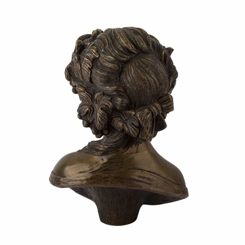 "CORBANI, R. (the Italian artists of the 19th century./20. Century), ""bust of a girl"". - photo 2"