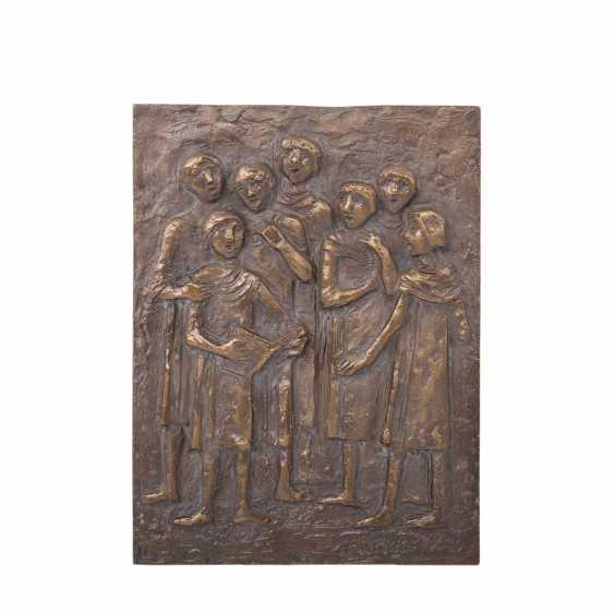 """KNEER, ALBRECHT (b. 1923), A Bronze Relief Of The """"Choir"""", 20. Century - photo 1"""