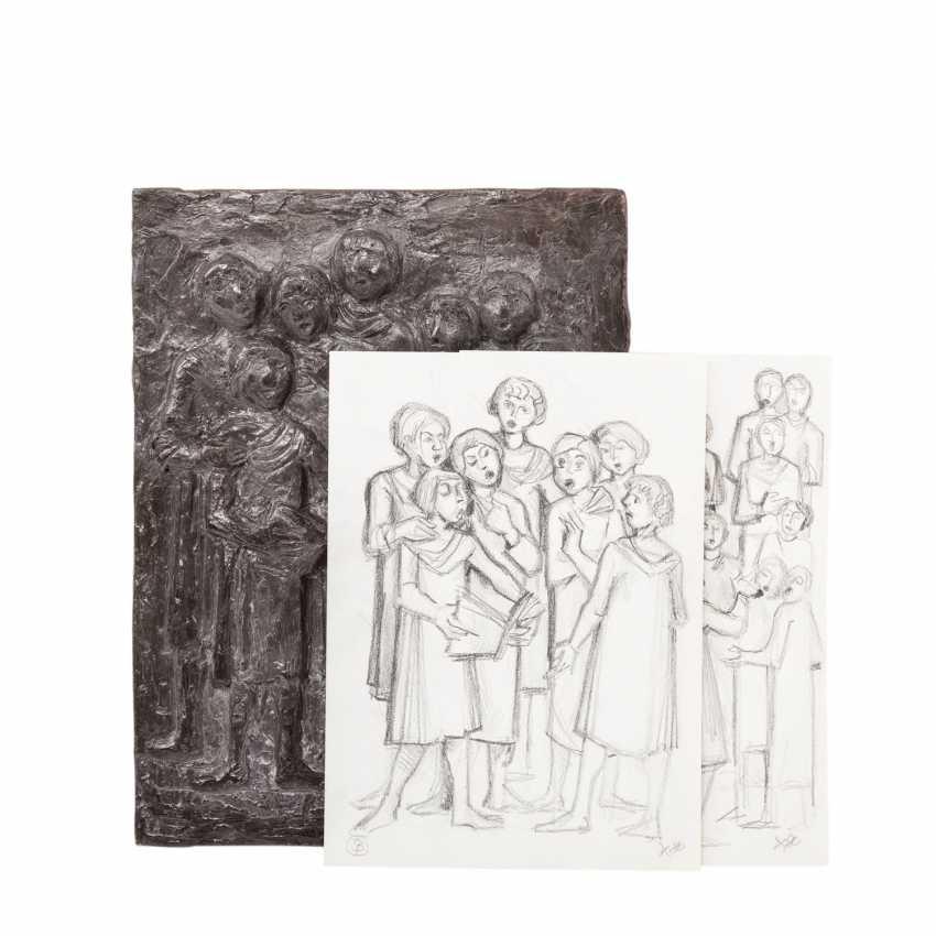 """KNEER, ALBRECHT (b. 1923), A Bronze Relief Of The """"Choir"""", 20. Century - photo 3"""