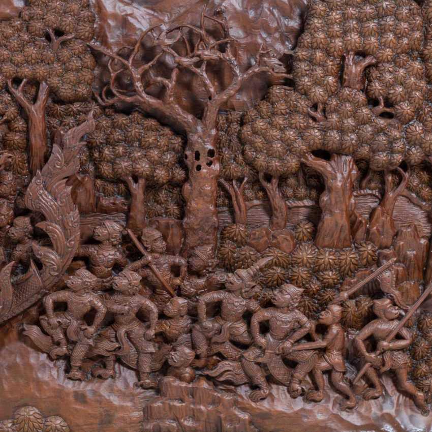 "THAILAND, 20. Century., ""Wall relief"" - photo 3"