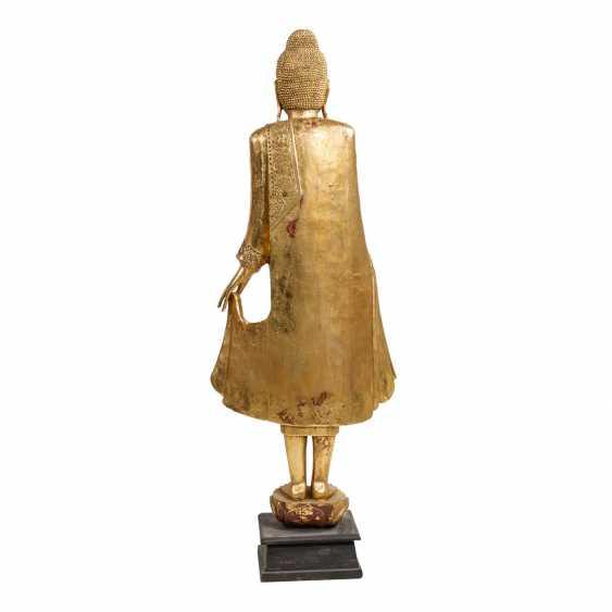 "THAILAND, 20. Century., ""Standing Buddha on Lotus base"" - photo 3"