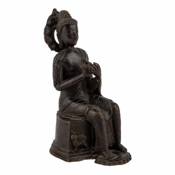 Buddha Maitreya aus Bronze. - Foto 1