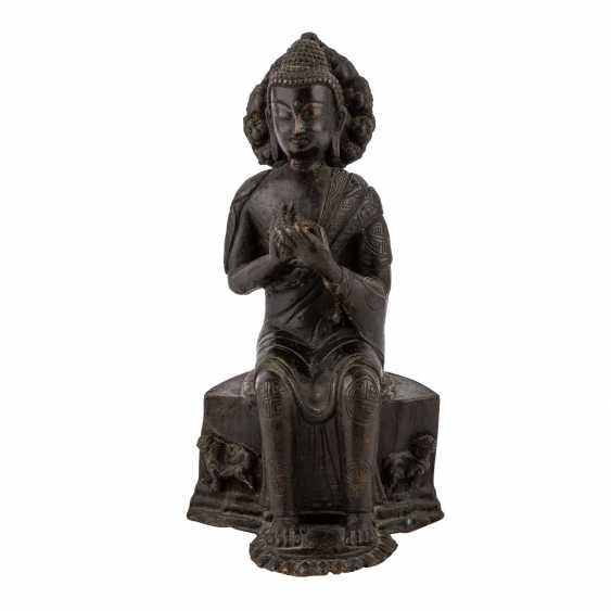 Buddha Maitreya aus Bronze. - Foto 2