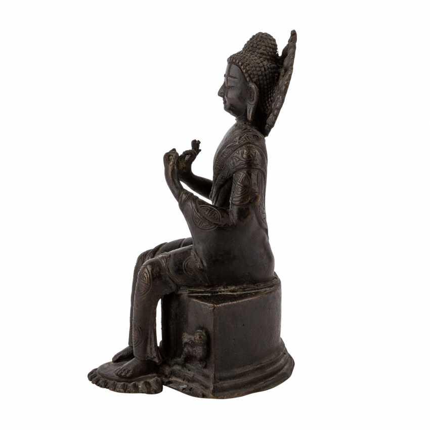 Buddha Maitreya aus Bronze. - Foto 3