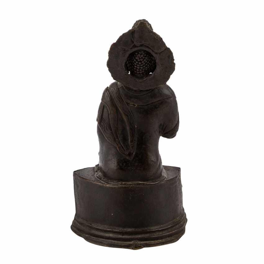 Buddha Maitreya aus Bronze. - Foto 4