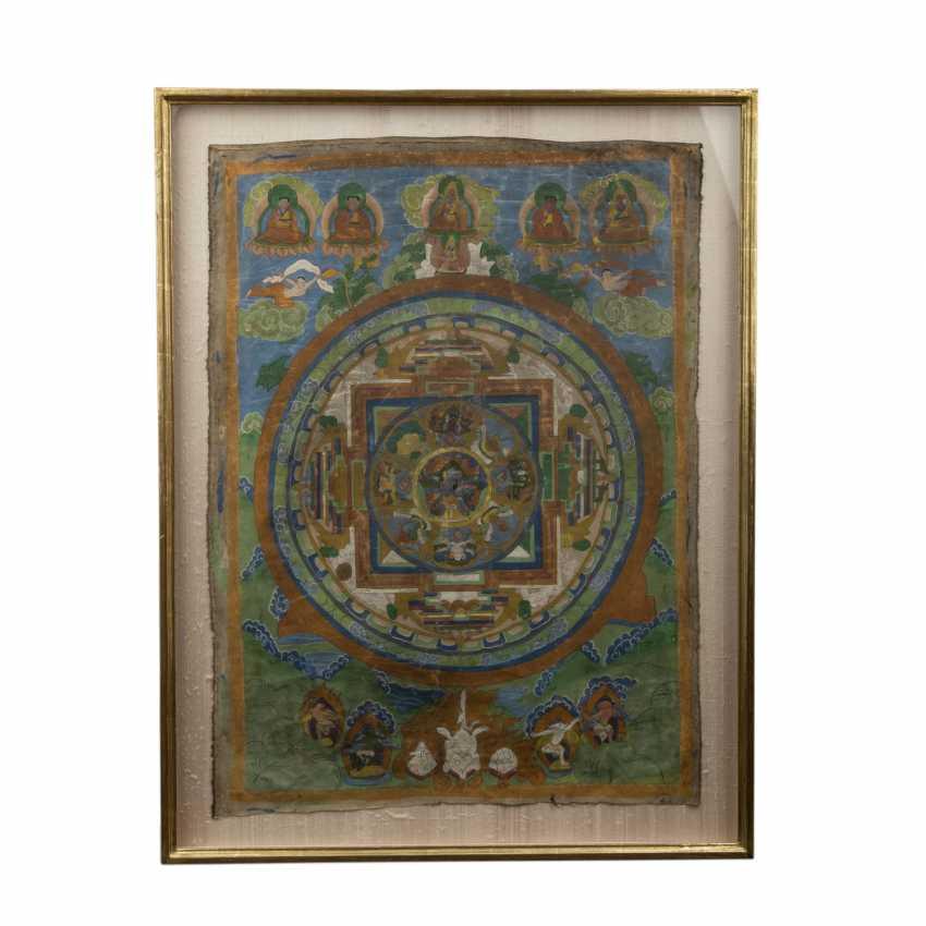 Thangka eines Mandala. TIBET, 19. Jahrhundert. - Foto 1
