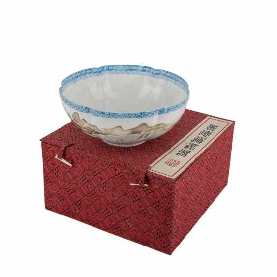 Bowl of egg-shell porcelain. CHINA, 20. Century. - photo 1