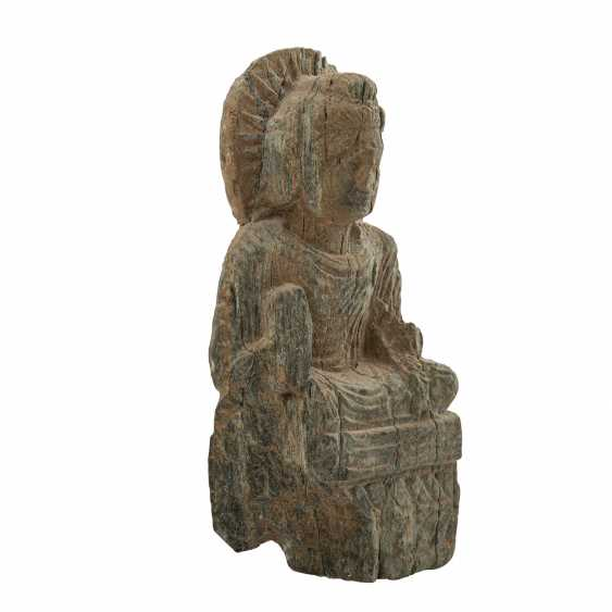 Antique stone relief with the representation of the Buddha. - photo 2
