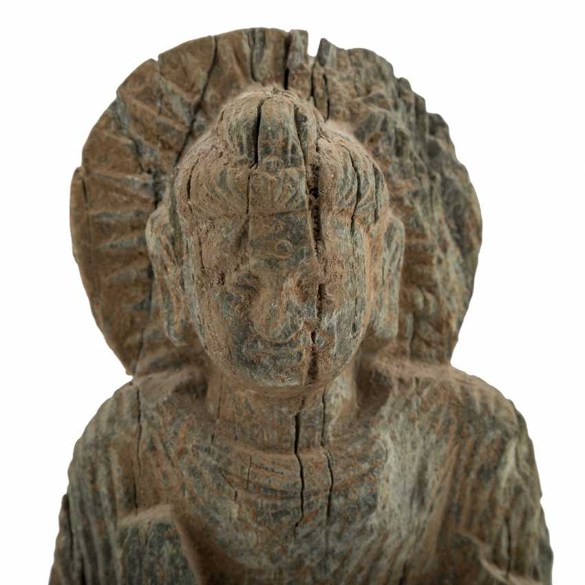Antique stone relief with the representation of the Buddha. - photo 6