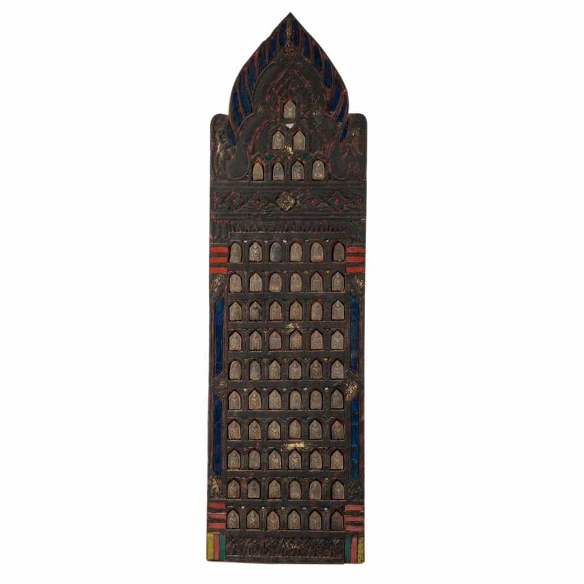 Temple panel of the 1000 Buddhas. THAILAND, 20. Century. - photo 1