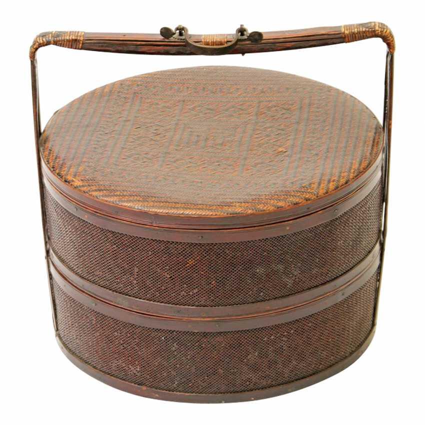 Large transport basket made of Bast. THAILAND, 20. Century. - photo 1
