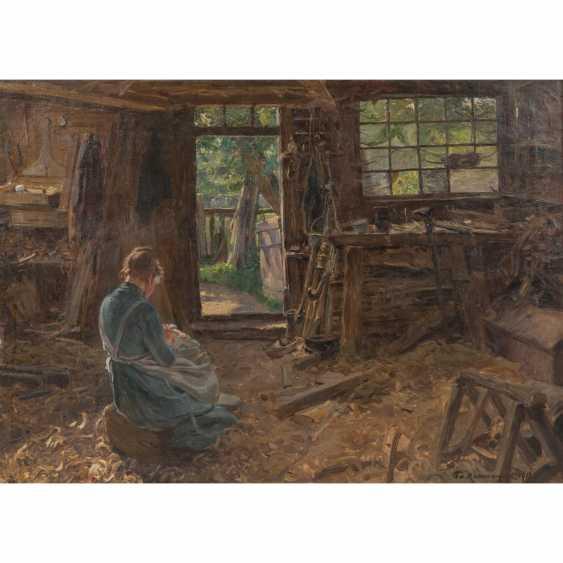 """KALLMORGEN, FRIEDRICH ( 1856-1924), """"Die Frau des Schifftszimmermannes"""" - Foto 1"""