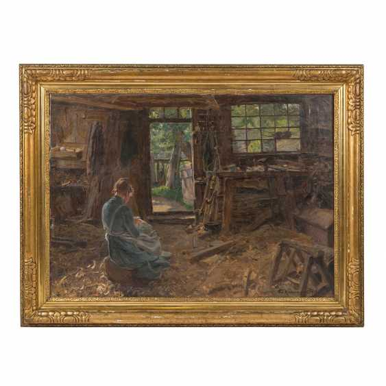 """KALLMORGEN, FRIEDRICH ( 1856-1924), """"Die Frau des Schifftszimmermannes"""" - Foto 2"""