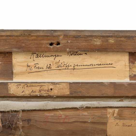 """KALLMORGEN, FRIEDRICH ( 1856-1924), """"Die Frau des Schifftszimmermannes"""" - Foto 6"""