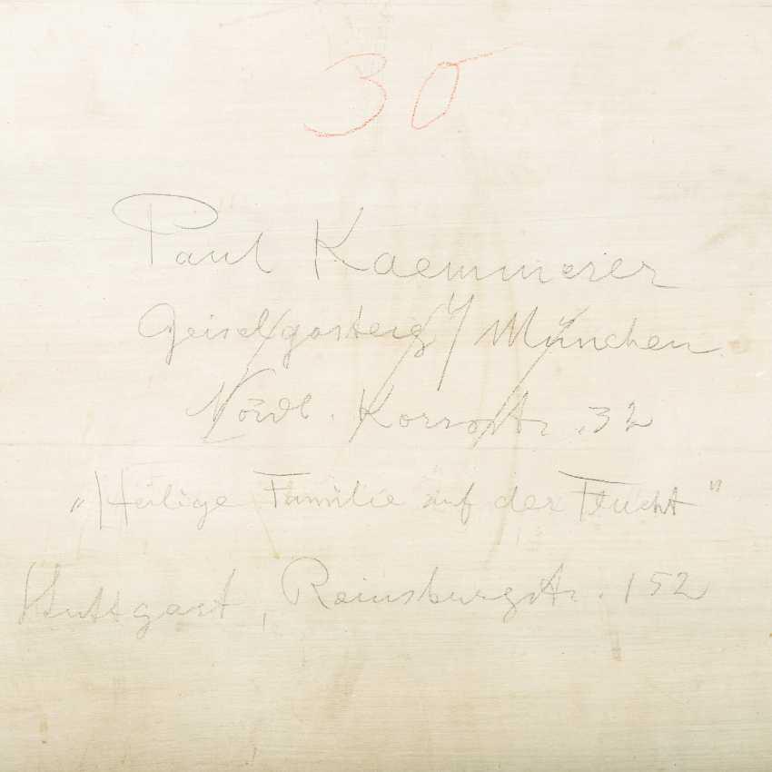 """KAEMMERER, PAUL (Stuttgart, 1868-1950 ibid), """"Holy family on the flight"""", - photo 4"""
