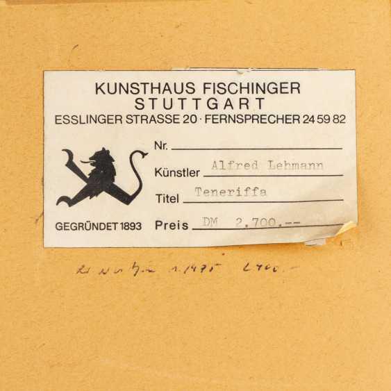 "LEHMANN, ALFRED (Stuttgart 1899-1979), ""Tenerfiffa"", - photo 5"