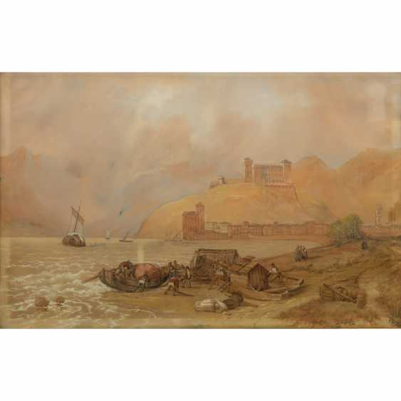 """LAEISZ, CARL MARTIN (1803-1864), """"fishing in the mountains of their boats on the Italian coast"""", - photo 1"""