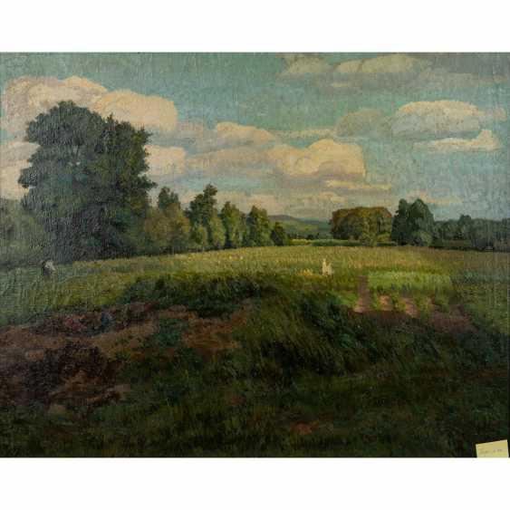 """FISCHER (?), FRITZ (undeutlich signiert; Maler 1. H. 20. Jahrhundert), """"Sommerlandschaft"""", - Foto 1"""