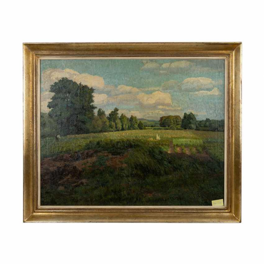 """FISCHER (?), FRITZ (undeutlich signiert; Maler 1. H. 20. Jahrhundert), """"Sommerlandschaft"""", - Foto 2"""