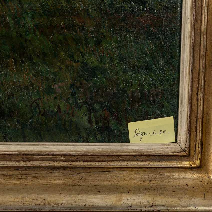 """FISCHER (?), FRITZ (undeutlich signiert; Maler 1. H. 20. Jahrhundert), """"Sommerlandschaft"""", - Foto 3"""