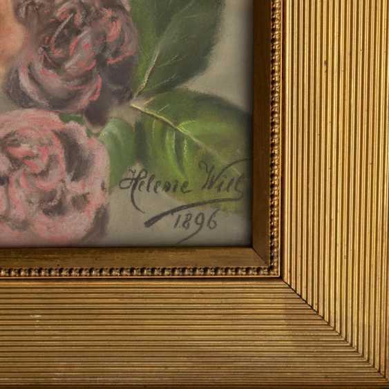 """WILL, HELENE (Künstlerin 19./20. Jahrhundert), """"Rosen vor neogotischem Gesims"""", - Foto 3"""