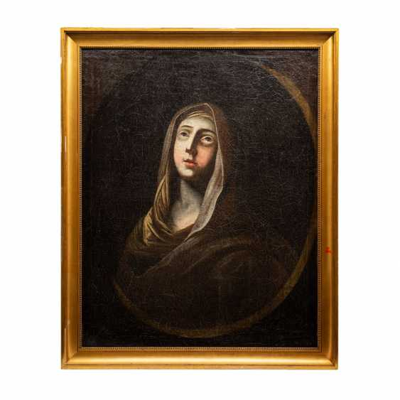 """BAROQUE PAINTER 18. Century, """"Mary Magdalene with a Cape"""", - photo 2"""