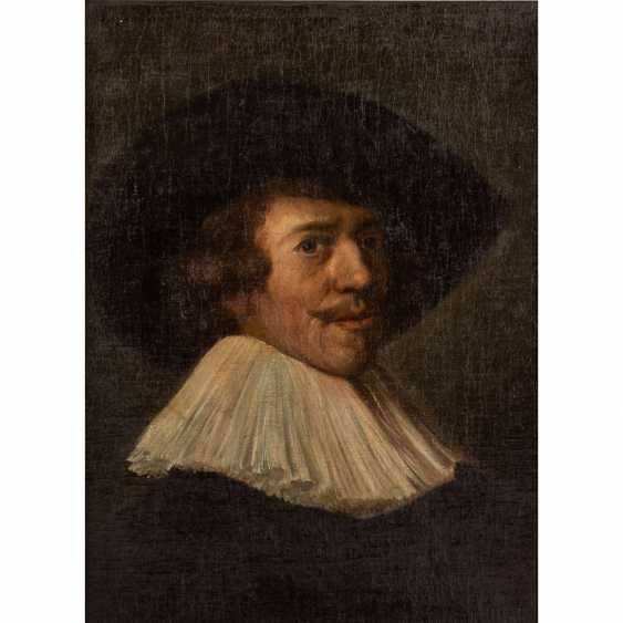 "HALS, Frans, COPY after (F. H.: 1580/85-1666), ""gentleman with a white collar and black hat,"" - photo 1"
