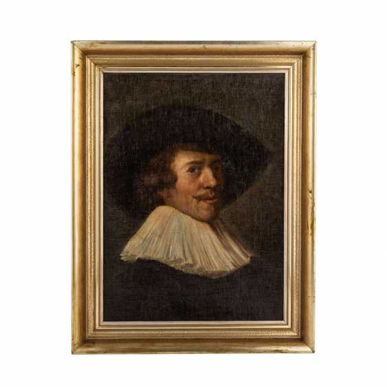 "HALS, Frans, COPY after (F. H.: 1580/85-1666), ""gentleman with a white collar and black hat,"" - photo 2"