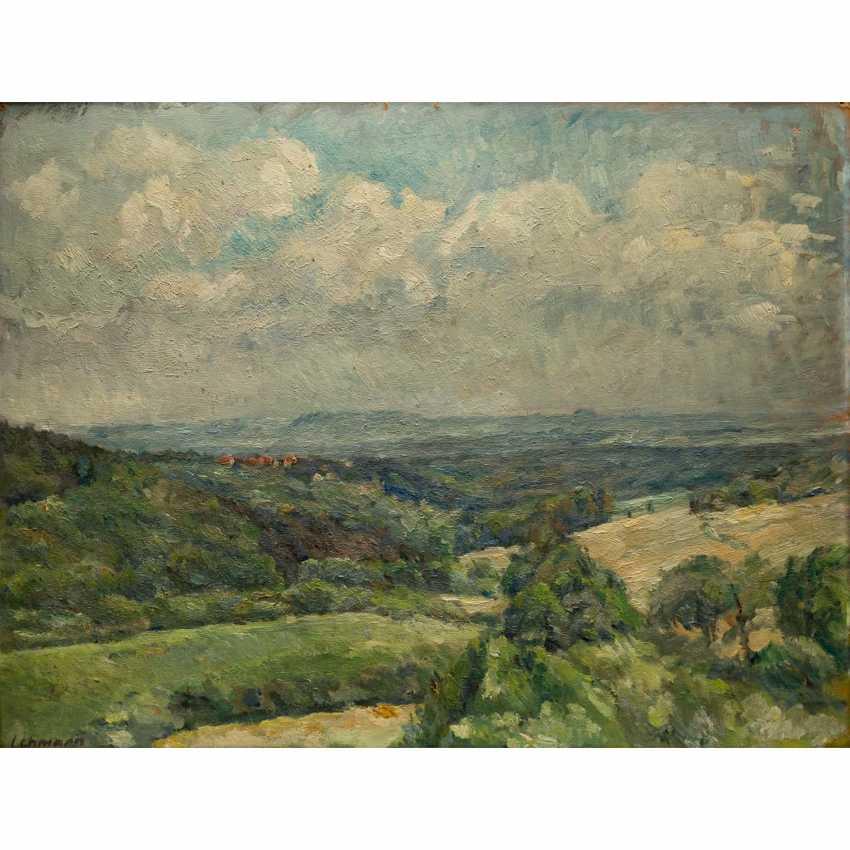 """LEHMANN, ALFRED (Stuttgart 1899-1979), """"landscape in the case of Stuttgart"""", - photo 1"""