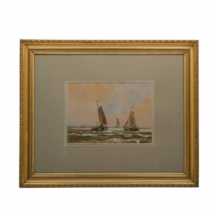 "TERHELL, ADRIAAN CHRISTIAN W. (1863-1949), ""sailing boats on the coast"", - photo 2"