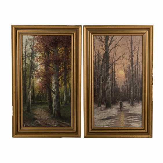 LAMBERT, B., a Pseudonym for KARL KAUFMANN (1843-1902/05), Pair of landscapes, - photo 1